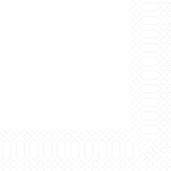 Duni Serviette, weiß, 33x33cm, 3-lagig, 1/4 Falz 4x250 Servietten