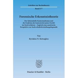 Forensische Erkenntnistheorie.