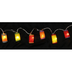 Guru-Shop LED-Lichterkette LED Lichterkette Lampions - mix bunt 1
