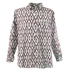 Guru-Shop Hemd & Shirt Goa Hippie Hemd, Herrenhemd - rot rot S