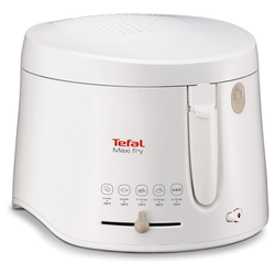 Tefal Fritteuse FF1000 MaxiFry Fritteuse weiß, 1900 W
