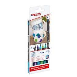 6 edding 4200 Porzellanstifte farbsortiert 1,0 - 4,0 cm