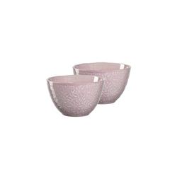 LEONARDO Schale MATERA Keramikschale 15,3 cm rosa 2er Set, Keramik, (2-tlg)