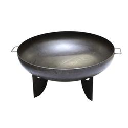 Feuerschale mit Griffe 50 cm Feuerkorb Stahl schwarz rost