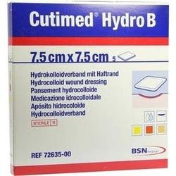 CUTIMED Hydro B Hydrok.Ver.7,5x7,5 cm m.Haftr. 5 St