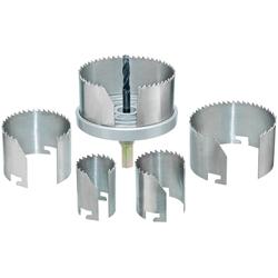Connex Lochsäge 68-100 mm, Set, für Rohrdurchführungen, Ventilationsinstallationen und Hohllochbohrungen