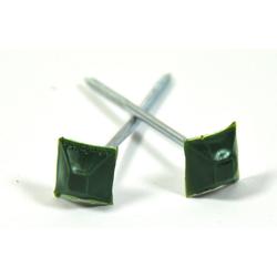 Xanie.EU Dachbahn Dachnägel Nägel für Bitumenwellplatte Wellplatten Kunststoffkopf Nagel eckig grün, Eckig, (500-St)