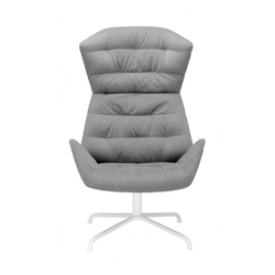 Thonet (808) Lounge-Sessel, Grey, Fußkreuz Weiß