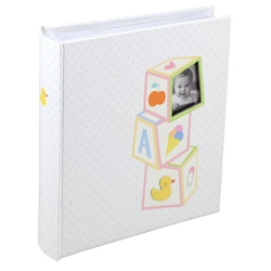 IDEAL TREND Album Baby's Toys Fotoalbum für 200 Fotos in 10x15 cm Baby Kinder Foto Album Memoalbum rosa