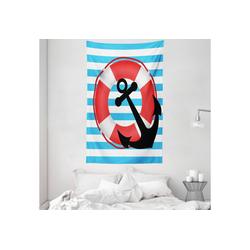 Wandteppich aus Weiches Mikrofaser Stoff Für das Wohn und Schlafzimmer, Abakuhaus, rechteckig, Anker Lifebuoy Anchor Entwurf 140 cm x 230 cm