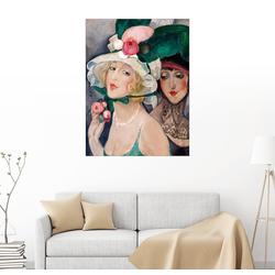 Posterlounge Wandbild, Zwei Kokotten mit Hüten 100 cm x 130 cm