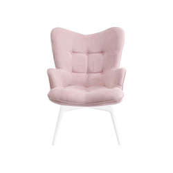 KARE Sofa Sessel Weiss Vicky Rosa
