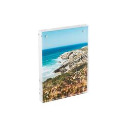 HMF Bilderrahmen BRM 469, für 1 Bilder, magnetisch, aus Acrylglas, 10 x 15 cm, Transparent