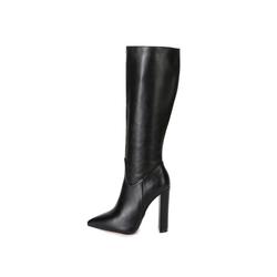Giaro Giaro TAKEN Schwarz Black Matte Stiefel Kniestiefel Lederstiefel 37-46 High-Heel-Stiefel Vegan 43