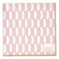 Greengate Stoffserviette Gate Noir GreenGate Servietten Aurelie Pale Pink groß