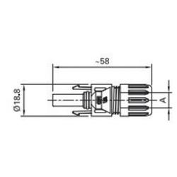 Stäubli MC Photovoltaik-Buchse PV-KBT4/6I PV-KBT4/6II-UR Inhalt: 1St.