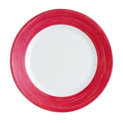 Teller Flach 23,5 cm Form Brush - Red / Rot Arcoroc