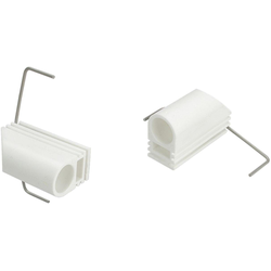 Klemmträger, Liedeco, Cafehausstangen, (Set, 2-tlg), für Cafehausstangen Ø 12 mm weiß