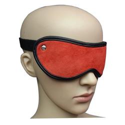 Bondage Designer Leder Augenmaske Augenbinde rot