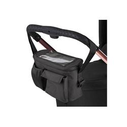 ONVAYA Kinderwagen-Tasche Kinderwagen Organizer, grau oder schwarz, Kinderwagentasche schwarz