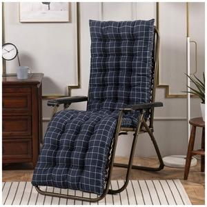 YOUCAI Auflage für Deckchair Liege-Stuhl Polster-Auflage Weich Und Bequem Dicker Bezug für Den Außengebrauch,48x120cm,Blau 1