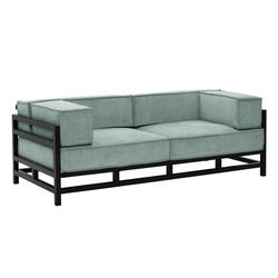 Max Winzer®-Designersofa »Lukas« , 3-Sitzer, grünblau