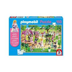 Schmidt Spiele Puzzle Schmidt 56271 - PLAYMOBIL® - Puzzle, 150 Teile, inkl. original Figur, Die Hochzeit, 150 Puzzleteile bunt