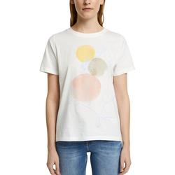 Esprit American-Shirt mit ästhetischem Print weiß XS
