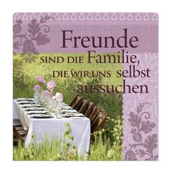 """H&H Romantisches Geschirrtuch """"Freunde sind die..."""" Handtuch"""