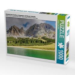 Almteich bei Cortina d Ampezzo mit Monte Cristallo Lege-Größe 64 x 48 cm Foto-Puzzle Bild von uwe vahle Puzzle
