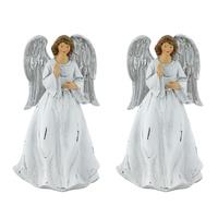 2er Set Schutz Engel Weihnachten Dekoration 17 cm Figur Advent XMAS Winter