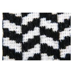 Teppich, Pro Home, eckig, Teppich aus 100% Baumwolle, Baumwollteppich Black & White schwarz 120 cm x 180 cm