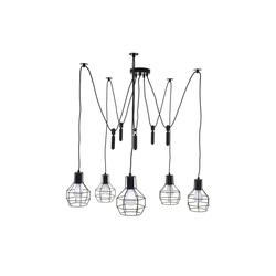 MCW Pendelleuchte MCW-H85, höhenverstellbar, 5x Gitterlampenschirm, Industrial