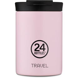 24Bottles Pastel Travel Trinkbecher 350 ml candy pink