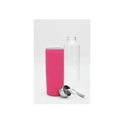HTI-Line Trinkflasche Trinkflasche Pink, Trinkflasche weiß