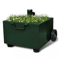 vidaXL Blumentopf vidaXL Bepflanzbarer Sonnenschirmständer Blumentopf Grün grün
