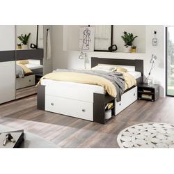 Bett Linz, mit ausziebaren Nachttischen und Schubkästen