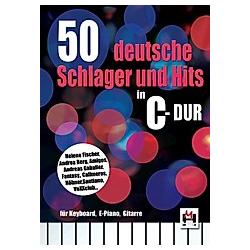 50 deutsche Schlager und Hits in C-Dur  für Keyboard  E-Piano  Gitarre - Buch
