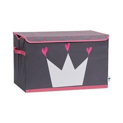 STORE IT! Aufbewahrungsbox Spielzeugtruhe Stern, grau/weiß rosa