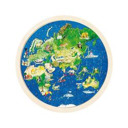 goki Puzzle Einlegepuzzle Weltkugel, Puzzleteile