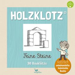 Holzklotz - Feine Steine - 30 Bauklötze