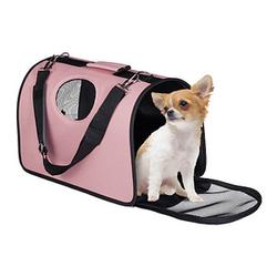 relaxdays Hundetasche   rosa 43,0 x 21,0 x 26,0 cm