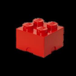 LEGO® Aufbewahrungsstein mit 4 Noppen in Rot