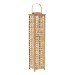 vidaXL Kerzenständer vidaXL Kerzenhalter Hängend Bambus Kerzenständer Laterne Windlicht 49/84cm 84 cm
