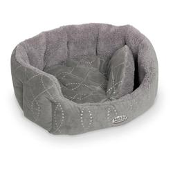 Nobby Hundebett oval Ceno grau/grau, Maße: 86 x 70 x 24 cm