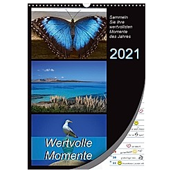 Wertvolle Momente - Sammeln Sie Ihre wertvollsten Momente (Wandkalender 2021 DIN A3 hoch)