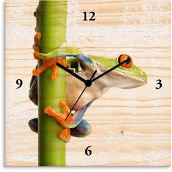Artland Wanduhr Frosch umfasst einen Pflanzenstengel