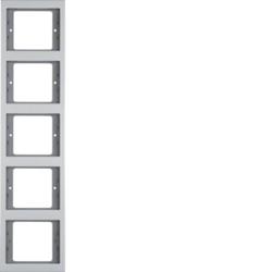 Berker 13537003 ,Rahmen 5fach senk K.5 Alu