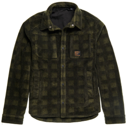 Superdry - Snow Tech Overshirt M Buffalo Check - Fleece - Größe: M