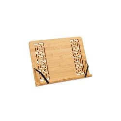relaxdays Buchstütze Buchständer Bambus mit Muster